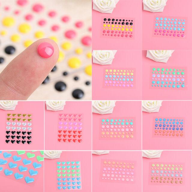Sugar Enamel Dots Resin Self-adhesive Sticker for Scrapbooking DIY Crafts Sticky