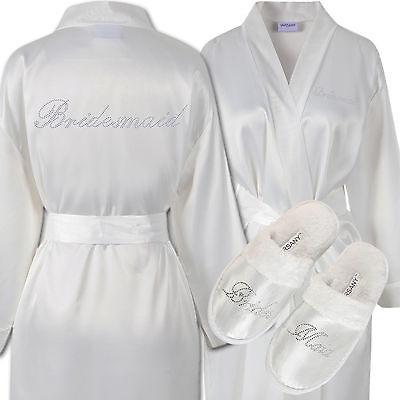 Personalised Wedding Day Spa Pantoufles Demoiselle D/'honneur Strass Demoiselle D/'honneur Mariée