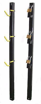 TG3000 Vinyl Coated Trimmer Rack Holds 3 Three Locks included for Trailer