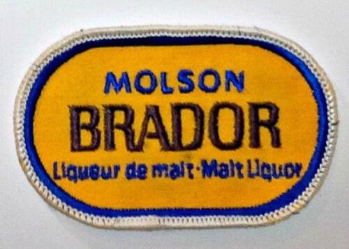 "VINTAGE MOLSON BRADOR MALT LIQUOR 2.5/"" x 3.75/"" INCH EMBROIDERED LOGO PATCH"