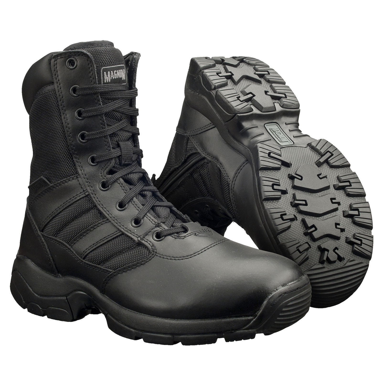 Magnum Panther 8.0 Side Zip Leather Mens Tactical Combat Army Police Boot UK4-15