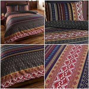 Reversible Modern Indian Moroccan Ethnic Orkney Duvet Quilt Cover ... : ethnic quilt - Adamdwight.com