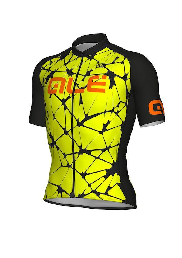 Trikot Trikot Trikot ALE' CRACLE fluoreszierend gelb schwarz Größe XL 882466