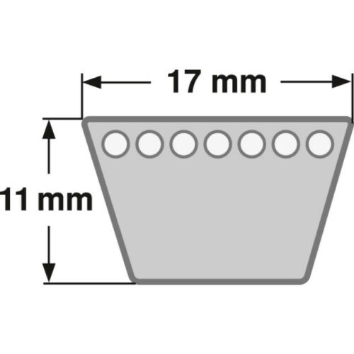 As-motor g07857028 e07659 correas trapezoidales para motor-entre ola