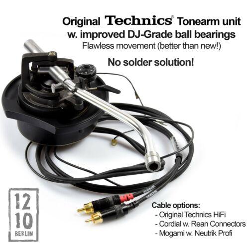Technics Full Tonearm Unit Einheit MK2 1210 Black P-AM18202K2 REFURB