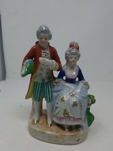 Vintage Pair Orion Made In Occupied Japan Victorian Colonial China Figurines G Ebay