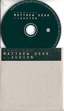 MATTHEW DEAR AS AUDION Fabric 27 2011 UK 11-trk promo test CD