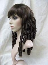 Dark Brown Baby Doll Wig Ringlet Curls Southern Belle Drizella Scarlett O Hara