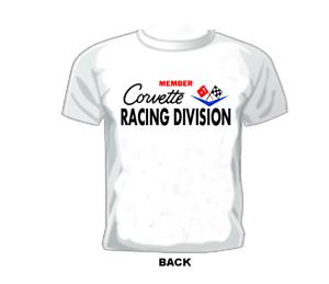 DRAG//GASSER//MIDGET//HARDTOP//NASCAR Vintage Race T-shirt CORVETTE RACE DIVISION