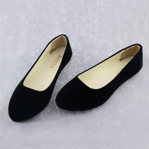 Womens Flat Pumps Ladies Glitter Ladies Ballet Ballerina Dolly Bridal Shoes Size