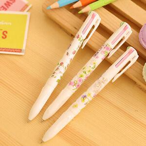Studenten-Bueroreizende-Blumen-Vierfarb-Kugelschreiber-Point-Pen