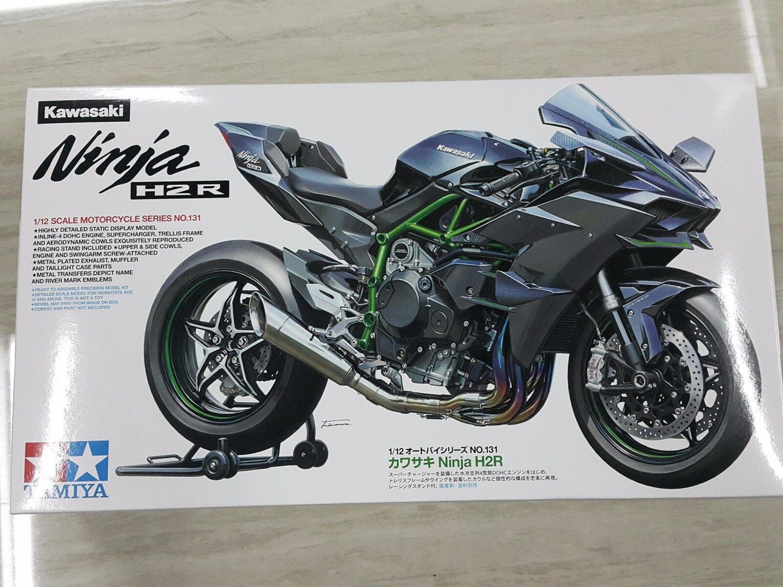 Tamiya 1  12 Kawasaki Ninja H2R cykel Motocycle modellllerlerl Kit