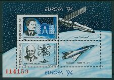 Rumänien 1994 Mi. Block 289 ** Europa Entdeckungen,Oberth,Coanda,Rakete,Flugzeug