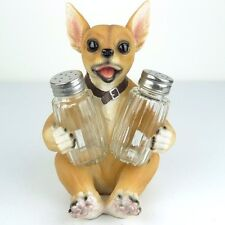 "Salt & Pepper Shaker Chihuahua Dog Jalapeno Spice Figurine Miniature 6.75""H New"