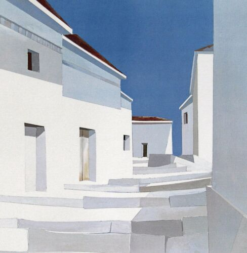 """poster James Harrill 20/""""h x 25/""""w image/"""" /""""Crete Steps/"""" signed//unsigned"""