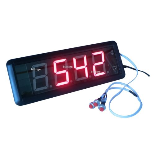 1.8/'/' 4Digits LED Number Counter Countdown Count Up From 9999 to 0 Digital Timer