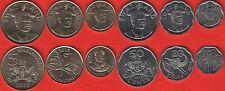 "Swaziland Set of 6 Coins 10 Cents - 5 Emalangeni 2015 ""mswati Iii"" UNC"