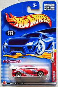 HOT WHEELS 2002 TUNERS TOYOTA CELICA 066 RED