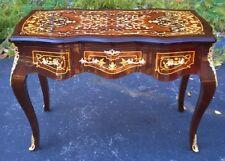 Louis XV Desk Bureau Plat Writing Table Marquetry Inlay