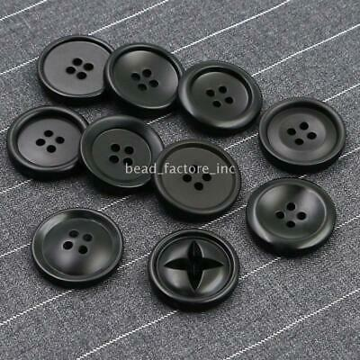 Dark Purple Resin Round Buttons 25mm Sew On 4 Holes 15 Pcs Sewing DIY Jewellery
