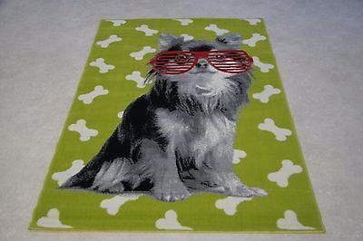 318 Quality Lime Green chihuahua dog Rug 120cm x 170cm Dog Animal Print Twist
