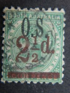 1838 South Australia Sc O57 (sg O51) Utilisé Cat 25 $-afficher Le Titre D'origine
