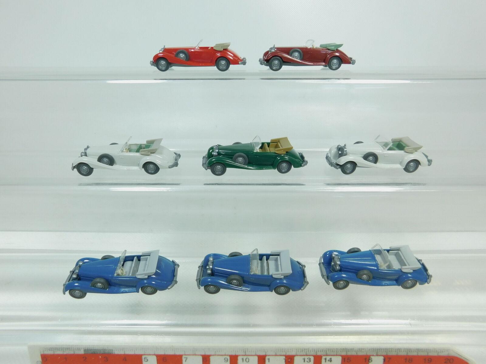 Bk54-0, 5 x Wiking H0   1 87 Car Congreenible Cabriolet Mercedes-Benz MB 540