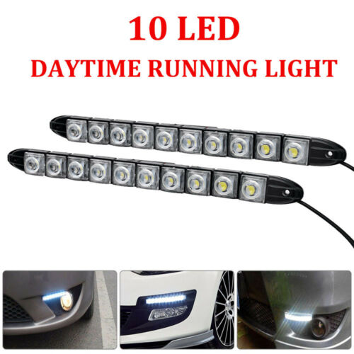 2PCS LED Car DRL Daytime Running Signal Lights Front Fog Daylight Indicator Lamp