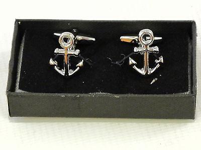 Classique Ancre Boutons de Manchettes en Boîte Cadeau Marin Bateau Navire Psn159