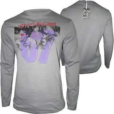 Energia Felpa Da Uomo Manica Lunga Camicia Regular Tg S, Xl Grey Nuovo-mostra Il Titolo Originale Vari Stili