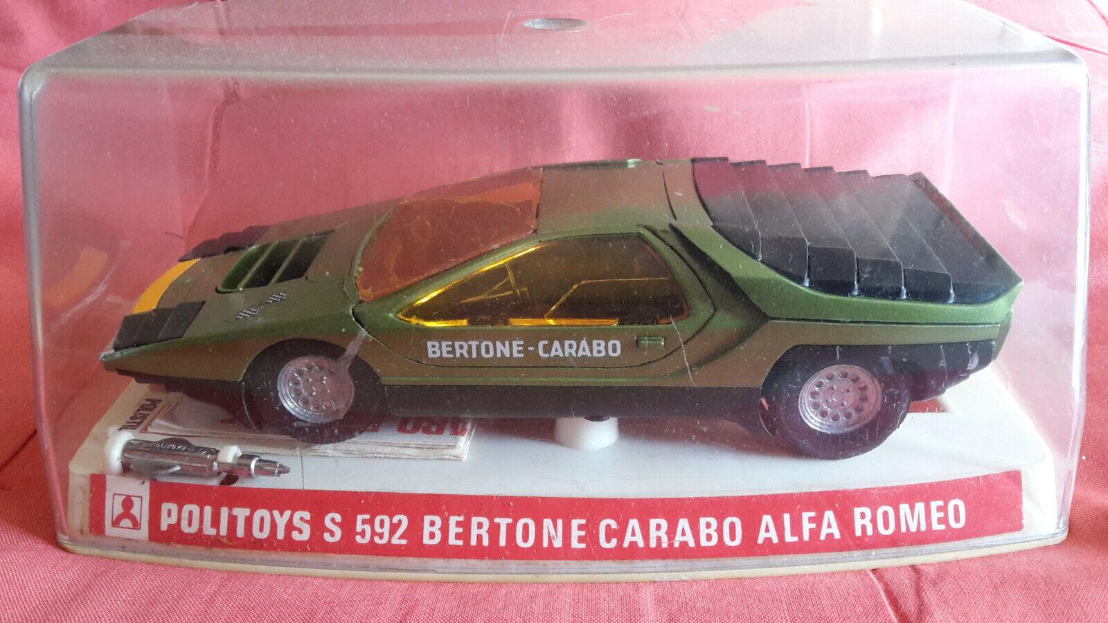 Bertone Carabo Alfa Romeo - Politoys 1 25 con scatola