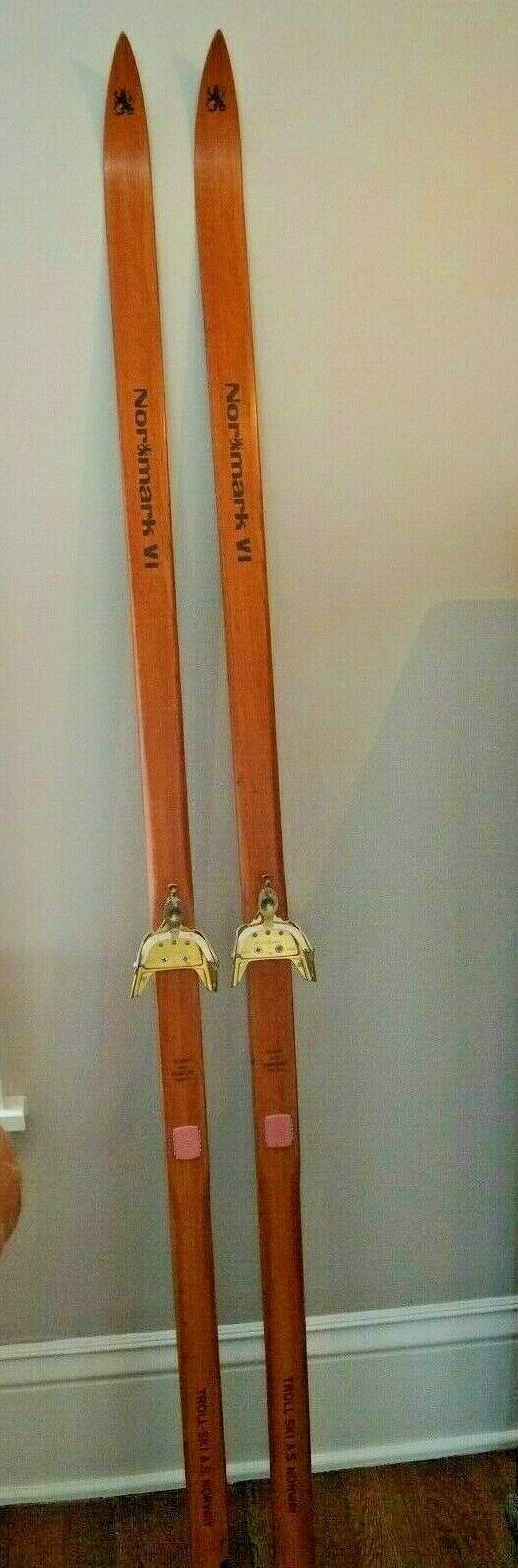 Vintage Wooden X-Country Skis  Normark Norwegian 200 mm      Excellent Condition