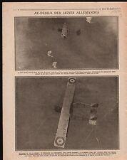 WWI Aircraft Pilote Avion Blériot XI Shrapnel Obus à balles  1916 ILLUSTRATION