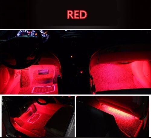 4x 9 LED Car Interior Lights Footwell Strip Light Atmosphere Decoration Lamp
