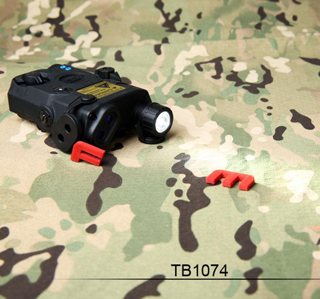 FMA PEQ versión de actualización de LA5-C LED blancoo Luz + Laser rojo con lentes de ir 1074BK