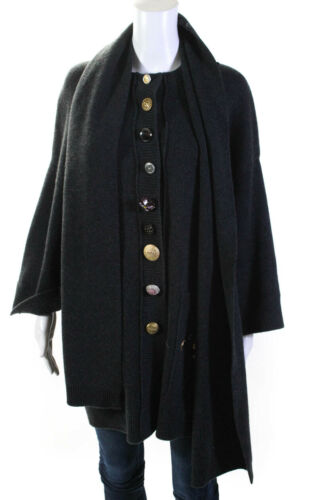 Dolce and Gabbana Womens Embellished Cardigan With