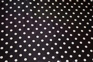Black-White-Polka-Dot-Charmeuse-Print-13-Apparel-Dress-Sewing-Fabric-BTY