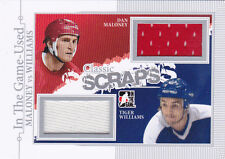 13-14 ITG Tiger Williams Dan Maloney Jersey Classic Scraps In The Game Used 2013