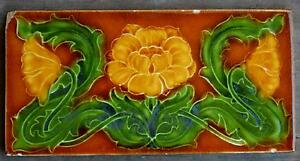 PILKINGTON'S - ANTIQUE ART NOUVEAU MAJOLICA BORDER TILE C1900