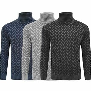 Mens-Knitted-Roll-Turtle-Neck-Pullover-Jumper-Tops-Wool-Warm-Slim-Fit-Sweater