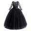 Kids Girls Lace Wedding Long Dress Princess Pageant Party Formal Tutu Maxi Gown
