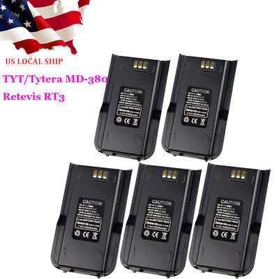Original 2000mAh Li-ion Radio Battery for Retevis RT3S//RT3 TYT MD-380 Radio US