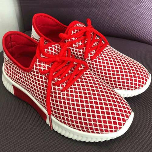 Details about  /Womens Lace Up Mesh Trainers Breathable Comfy Gym Running Sneakers Ladies Shoes