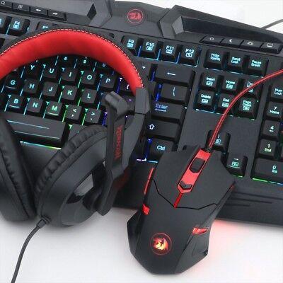 Gaming Mouse Gaming Keyboard Combo S101 Redragon RGB LED Backlit Keyboard and Mo