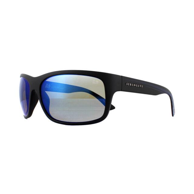 f96c1382d2 2. Serengeti Sunglasses Pistoia 8743 Satin Black Dark Blue 555nm Blue  Polarized