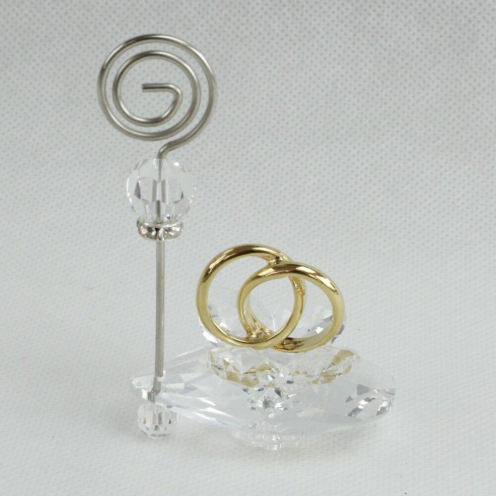 DLM6-26830-oro (kit 6 pezzi) Portafoto Memo Clip in cristallo con con con Coppia Fedi No 065f35