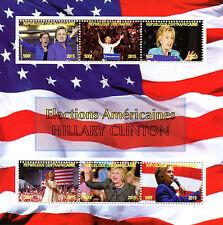Central African Rep 2015 CTO Hillary Clinton noi ELEZIONI 6v M/S FRANCOBOLLI