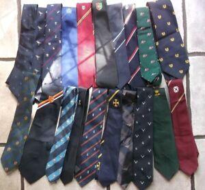 Job-Lot-50-X-MENS-Vintage-Club-Association-Crested-Tie-1960s-1970s-1980s-JOBLOT