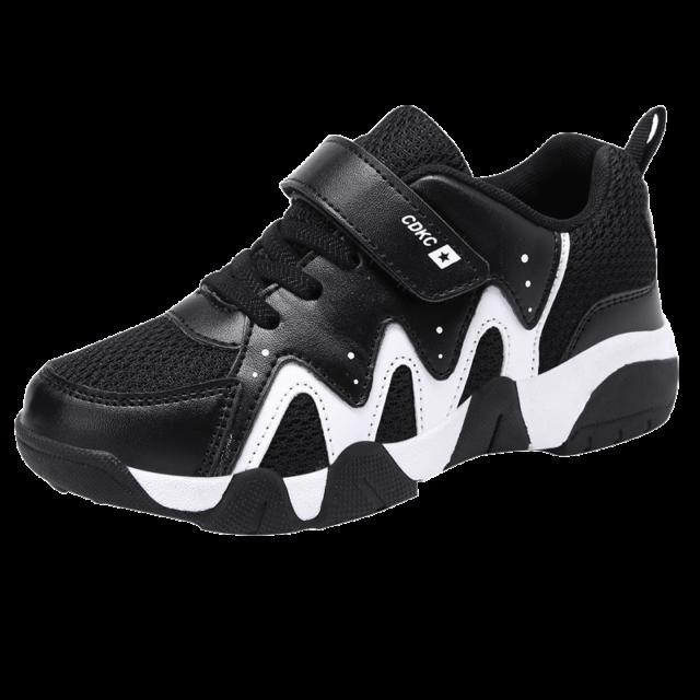 Boys Mesh Sneakers Kids Tennis Running Hiking Shoes Running Shoes Outdoor Black