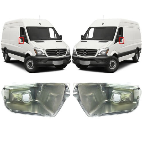 Une paire de miroir Blanc indicateurs s/'adapte à Mercedes-Benz Sprinter à partir de 2006
